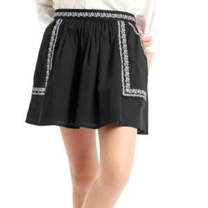 Gap Floral Embroidery Flippy Skirt 592718